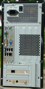 ESXi-Server Rückseite